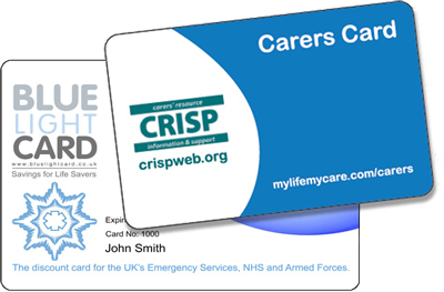 Blue Light & Carers Card holders click here